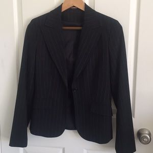 Ladies pin strip suit